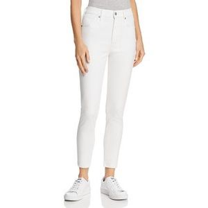 Levi's Mike High Super Skinny Ankle Jeans White